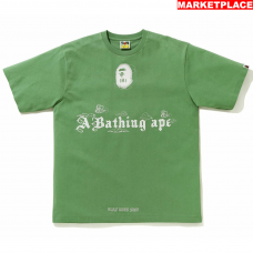 Ink Print Relaxed Green Tee