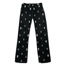 Skull Design Corduroy Pants